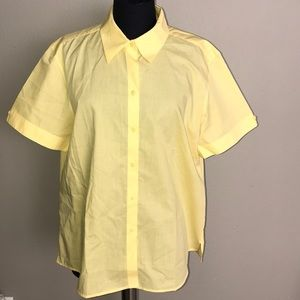 🔥FOXCROFT Non Iron Short Sleeve Yellow (SZ 18) 🔥